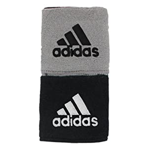 Adidas Interval Reversible Wristband, Black/White / Aluminum 2/Black, One Size Fits All