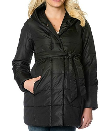 Oh Baby by Motherhood Hooded Puffer Jacket winter coat Maternity (S)