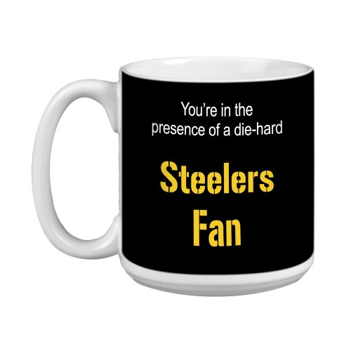 Tree-Free Greetings XM28132 Steelers Football Fan Artful Jumbo Mug, 20-Ounce from Tree Free