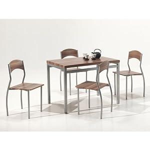 Mister meubles ensemble table de cuisine et chaises romy for Tables et chaises de cuisine