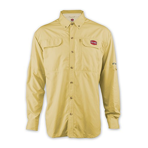Penn Men'S Vented Performance Technical Long Sleeve T-Shirt, Yellow, X-Large