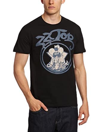 ZZ Top Men's Outlaw Vintage Short Sleeve T-Shirt, Black, Large