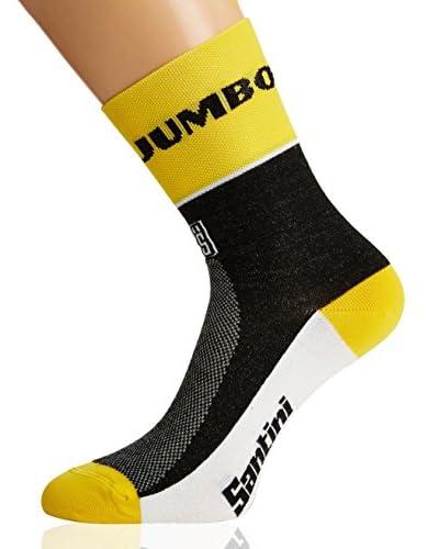 Santini Calcetines Deportivos Replica Amarillo / Negro