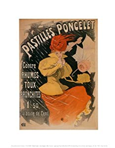 Pastilles Poncelet Art Print Art Poster Print by Jules Chéret, 11x14