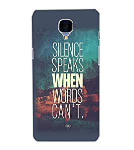 ONE PLUS 3 SLIENCE Back Cover by PRINTSWAG
