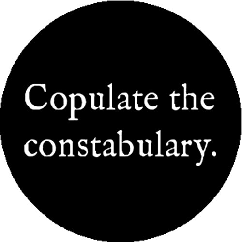 Good-looking Corpse Fashion Badge Button Steampunk Victorian Gothic Fuck Police