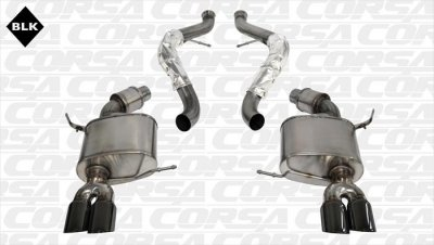 Corsa Performance 14569BLK Sport Cat-Back Exhaust System