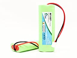 2x Pack - Dogtra Battery Replacement for Dogtra BP12RT Dog Training Collar Receiver Battery (300mAh, 4.8V, NI-MH) - Compatible with Dogtra 1900 NCP, 1902 NCP, 300M, YS500, SureStim H Plus, 1900 NCP, 302M