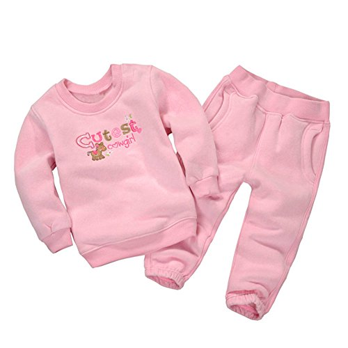 Mud Kingdom Little Girls' Cartoon Fleece Outfits Sweatshirts and Pants Set 24M Cutest Cowgirl (Cutest Baby Girl Clothes compare prices)