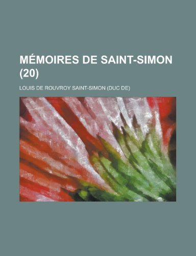 Memoires de Saint-Simon (20)