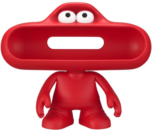 Beats Pill Character Stand (Red) With Moveable Arms, Head And Customizable Matte Finish