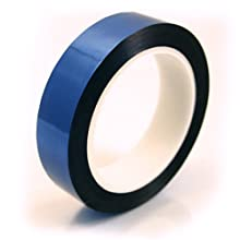 "CS Hyde Metalized Mylar Tape with Acrylic Adhesive, 2.2mm Thick, Blue Color, 0.5"" x 72 yds"