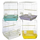 Prevue Pet Products BPVECONO1818 4-Pack Economy Cockatiel Tall Cage, 18 By 18-Inch, Colors Vary