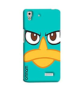 Omnam Duck Pattern Printed Designer Back Cover Case For Oppo R7
