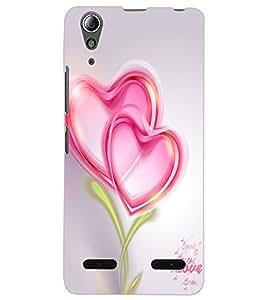 ColourCraft Love Hearts Design Back Case Cover for LENOVO A6000