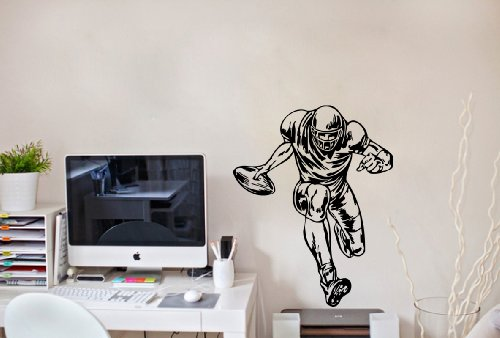 Housewares Wall Vinyl Decal Sport People American Football Player Home Art Decor Kids Nursery Removable Stylish Sticker Mural Unique Design For Any Room front-961118