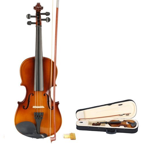 3/4 Size Acoustic Violin with Case ,Bow ,Rosin Natural for Kids