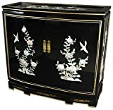 "Unique Elegant Beautiful Furniture - 32"" Slant Front Lacquer Cabinet Small Server Chest - 5 Colors"