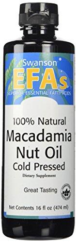 Swanson 100% Natural Macadamia Nut Oil, Cold Pressed 16 fl oz (473 ml) Liquid