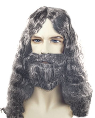 Costume Adventure Men's Quality Grey Biblical Wig and Beard