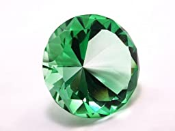 80mm Emerald Crystal Diamond Jewel Paperweight