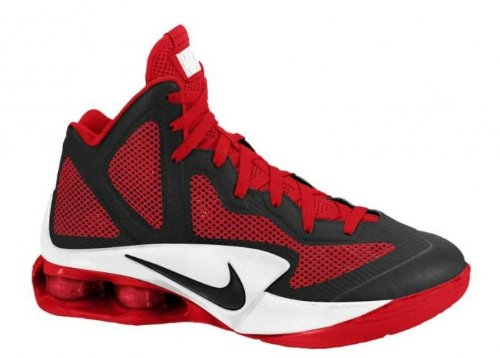 new style d3c49 2362b Nike 454168 004, Nike Shox Air Hyperballer TB Basketball Shoes, Black Varsity  Red