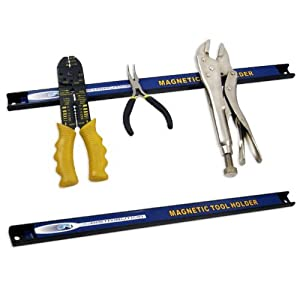 "Set of Two Heavy-Duty 12"" Magnetic Tool Organizer Racks - The Most Efficient Tool Storage Method!"