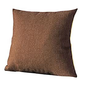 Decorative Burlap Pillow Covers : Amazon.com - Burlap Decorative Throw Pillows Cover 18 Inch Brown