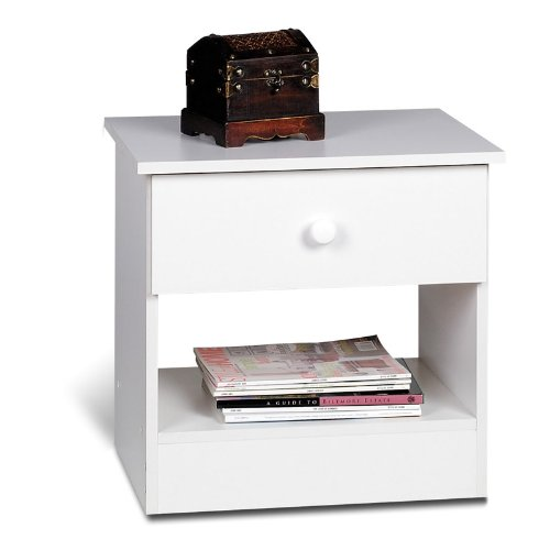 cheap prepac white night stand 1 drawer nightstands