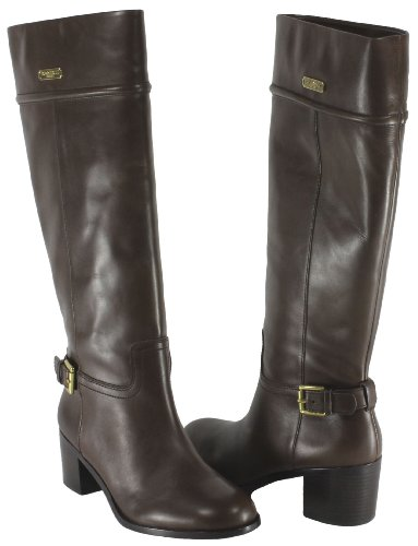 New Bandolino Women39s Cyrene Riding Boot Black Leather 602675887AC