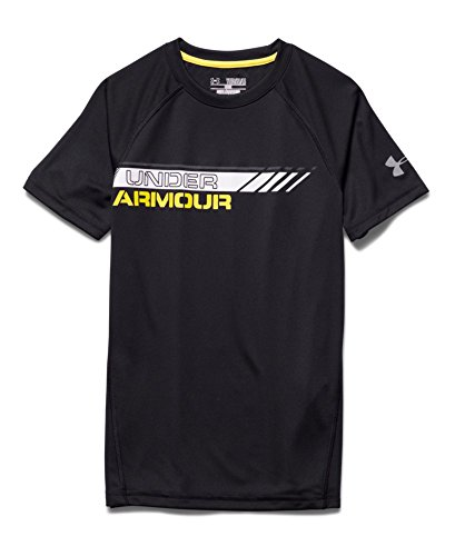 Under Armour Big Boys' UA Reflective T-Shirt Youth Small Black