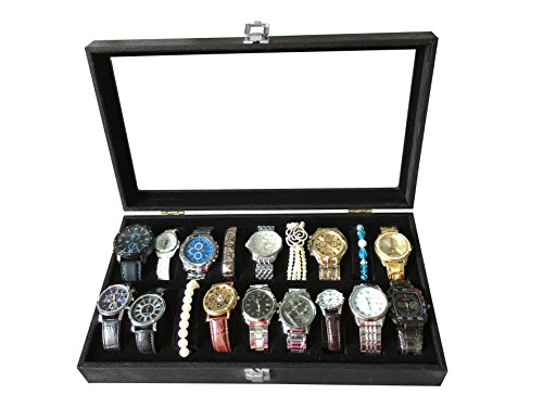 Sodynee® 18pc Mens Watch Box Watch Travel Tray