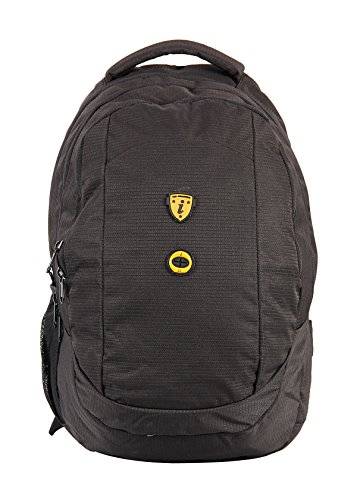 I Bags I Bags 1312 Red Polyester Backpack (Yellow)