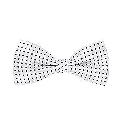 His Honour White Polka Dot Bow Tie