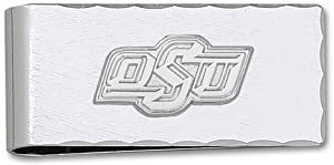 Oklahoma State Cowboys 1 2 Sterling Silver oSu on Nickel Plated Money Clip by Logo Art