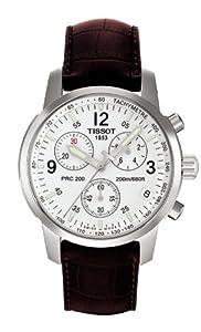 Mens Watch Tissot T17151632 T-Sport T-Sport PRC200 Chronograph White Dial Strap