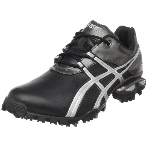 ASICS Men's GEL-Linksmaster Golf Shoe,Black/Silver/Gunmetal Grey,12 M