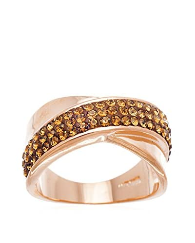 Annabella Lilly 18K Rose Gold-Plated Chocolate X Swarovski Elements Ring