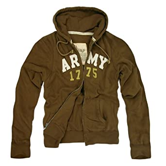 Rapid Dominance Genuine US Army Waffle Lined Military Fleece Hoodie - Brown - Small - by Rapid Dominance