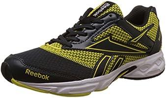 Reebok Men's Cruise Runner Lp Grey, Yellow,White And Black Running Shoes - 6 UK