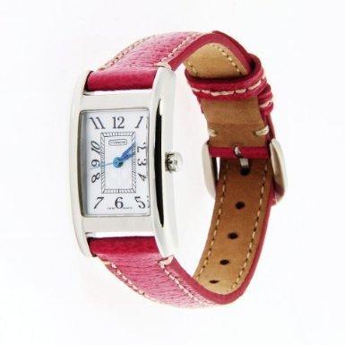 Coach Women'S Watch Lexington Collection Pink Strap Silver Case 14501076