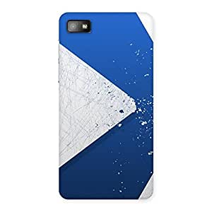 Enticing Blue Paint Work Job Back Case Cover for Blackberry Z10