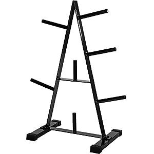 Movit® Hantelscheibenständer, Hantelablage, Scheibenständer, schwarz, maximale Gewichtsbelastung bis 250 kg