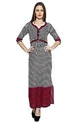 LEBE Multicoloured V Neck Women's Maxi Dress