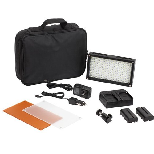312A Led On-Camera Dimmable Video Light + Softbox