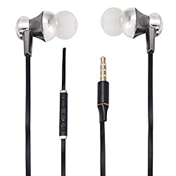 With Volume Control & MIC Function Designer Series & Comfort Fit Stereo Headset Handsfree Headphone Earphone 3.5 MM Jack for LE G FLEX 3 -Black