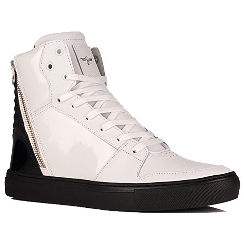 Creative Recreation Adonis Sneakers in White Black Patent 8 M US