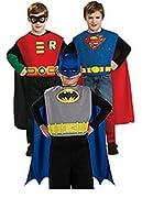 Action Trio Halloween Costume Set (Batman, Superman, and Robin)