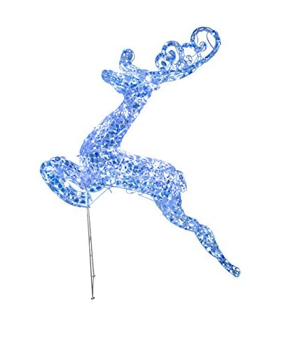 National Tree Company 60 Crystal Jumping Deer