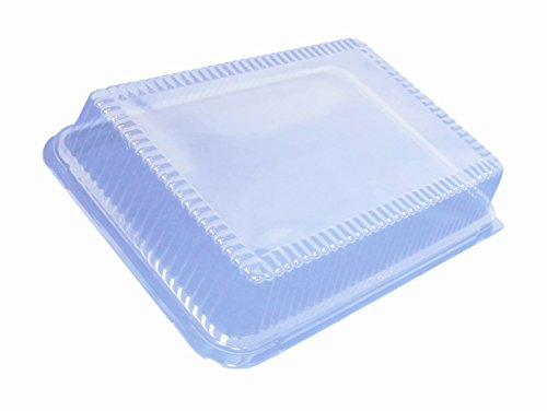 Durable Packaging P1288-100 Plastic High Dome Lid for Disposable 1/4-Size Sheet Cake Pan (Pack of 100)